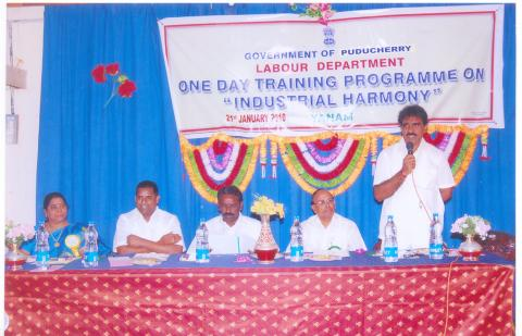 Image of Celebration of Industrial Harmony on 1st October 2009 at Pondicherry